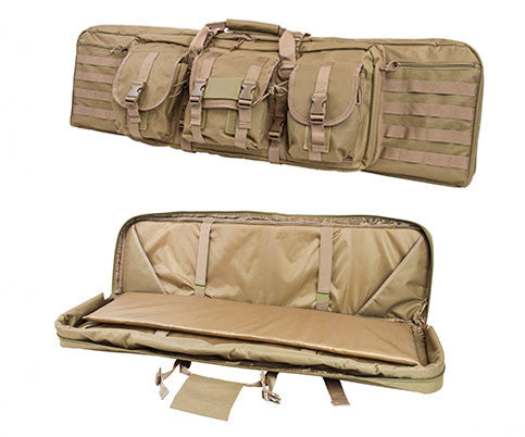 NcStar 36¬? Double Rifle Case TAN