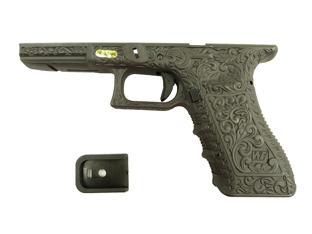 WE Model 18 grip custom scrollwork