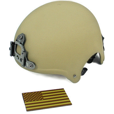 King Arms IBH Helmet w/ NVG Mount TAN
