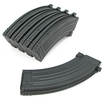 King Arms AK 140rnd Midcap Metal mag 5 pack