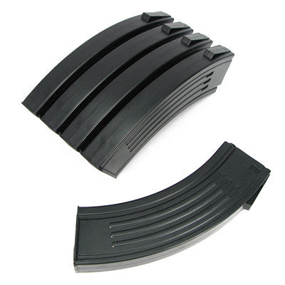 King Arms Airsoft M16 (AK Style) 100 round magazine 5 pack