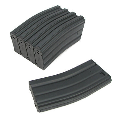 King Arms Airsoft M16 120 round magazine 5 pack Metal