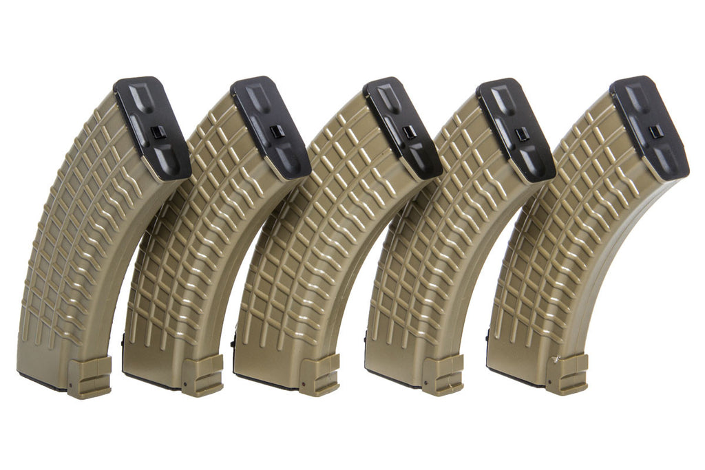 King Arms AK 140rnd mag 5 pack