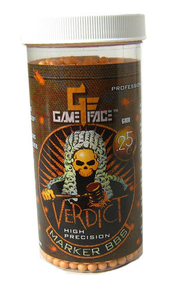GameFace Verdict 0.25g Orange 2200 ct