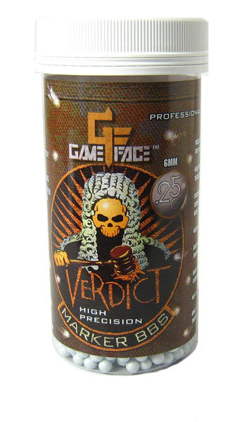 GameFace Verdict 0.25g White 2200 ct