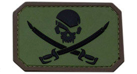 MSM Pirate Skull Flag Patch PVC