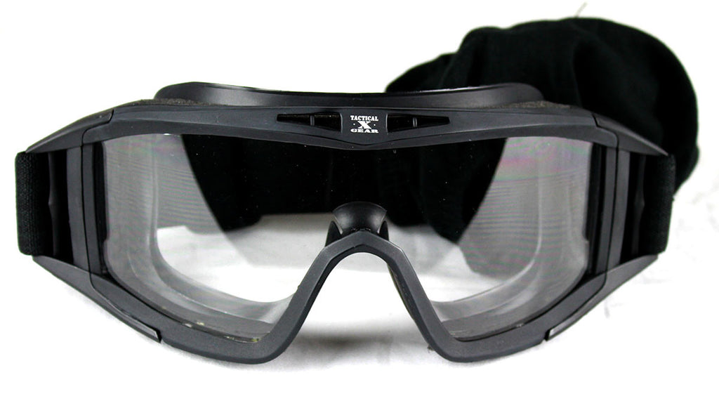 Tactical Crusader Pro Tac Goggles - BLACK