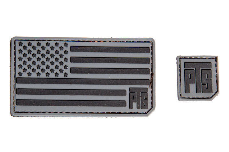 "PTS PVC Flag Patch 1"" Logo Tab"