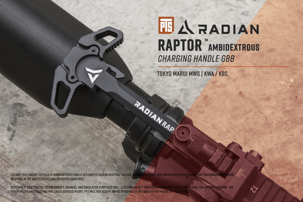 PTS RADIAN RAPTOR AMBIDEXTROUS CHARGING HANDLE GBB
