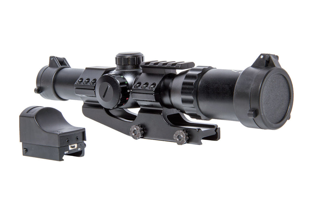 1-4X24 scope w/QD mount