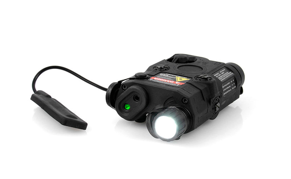 PEQ15 Green Laser LED Light BLK