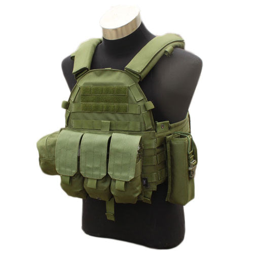 TMC 6094 Plate Carrier w/ 3 Pouches OD