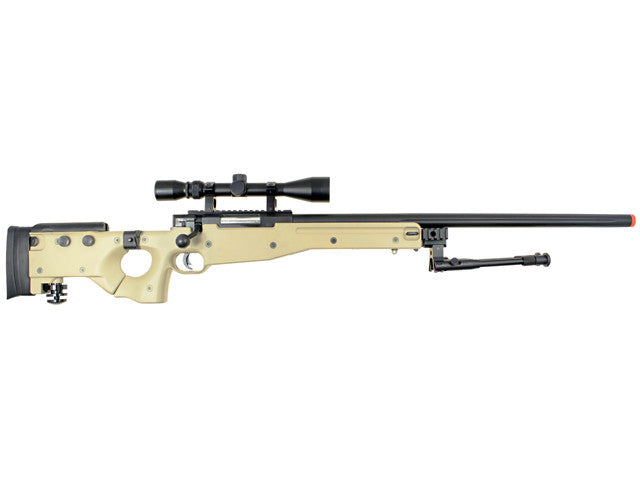 WELL MB08 Bolt Action Rifle w/ Scope TAN