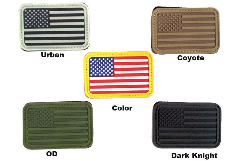 AEX USA Flag Patch Left