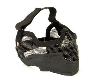 UKARMS V2 Metal Mesh Mask w/ Ear Pro BLK