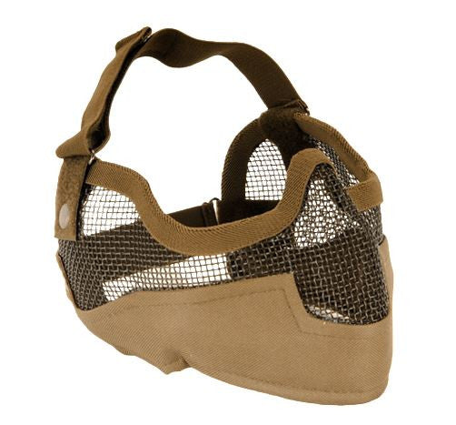 UKARMS V2 Metal Mesh Mask w/ Ear Pro TAN