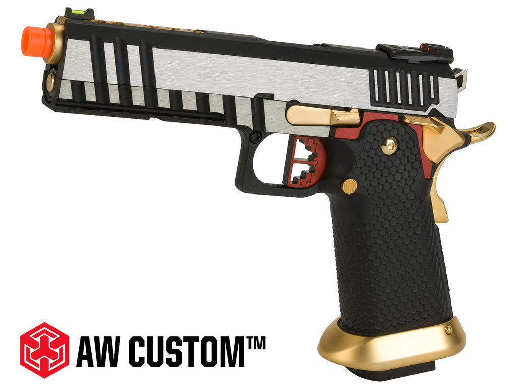 "Armorer Works AW Custom ""Competitor"" Hi-Capa Gas Blowback Airsoft Pistol - Two-Tone"