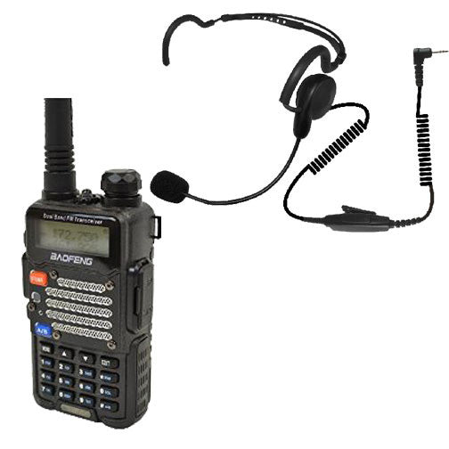 CodeRed CQB-K headset with UV-5R radio Bundle