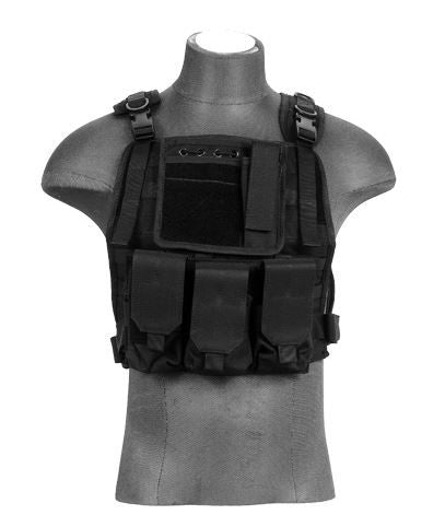 Lancer Tactical Molle Plate Carrier BLK