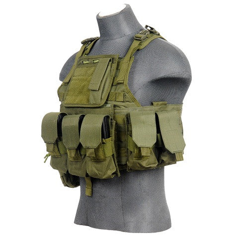 Lancer Tactical Assault Plate Carrier OD Green