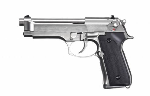 WE Improved M9 gas blowback pistol - Silver