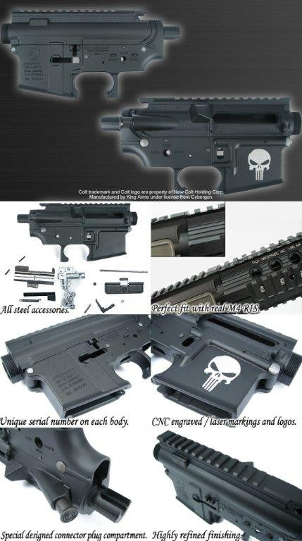 King Arms Colt M4 Punisher MBK