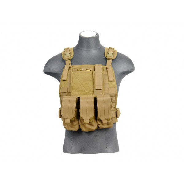 Lancer Tactical Molle Plate Carrier TAN