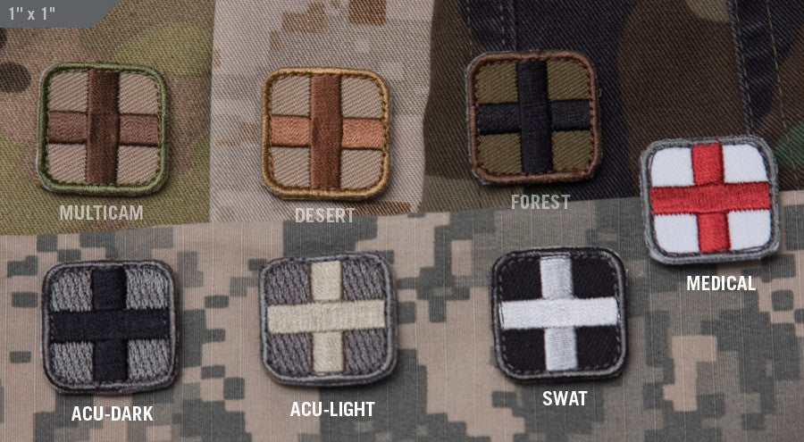 MSM Medic Square Patch 1""