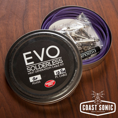 Disaster Area EVO Solderless Cable Kit 20 plugs (multiple colors)