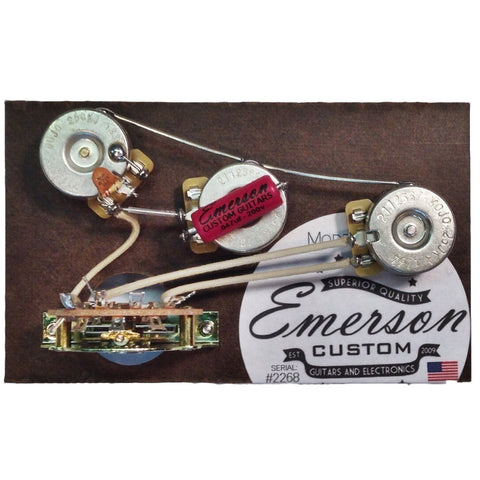Emerson Custom Blender 5-Way Strat Prewired Kit 250k