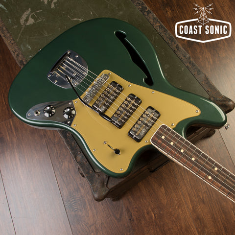 Bilt Guitars S.S. Zaftig - Highland Green w/lollar gold foils, vibrato & mastery bridge