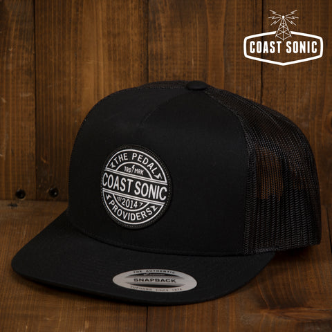 Coast Sonic Snapback Trucker Hat Black