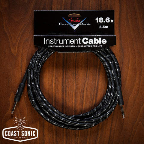 Fender Custom Shop Cable 18' Black Tweed (Straight - Straight)
