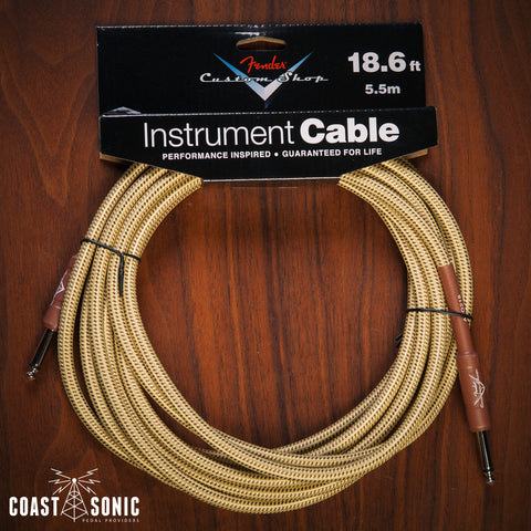 Fender Custom Shop Cable 18' Tweed (Straight - Straight)