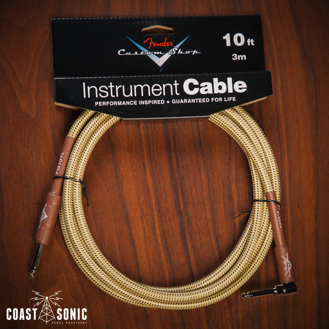 Fender Custom Shop Cable 10' Tweed (Straight - Angle)