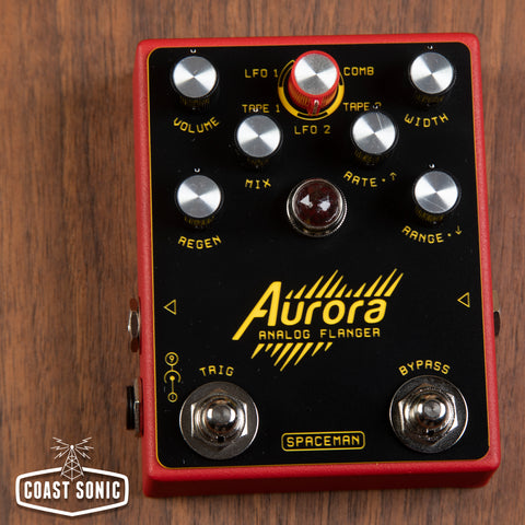 Spaceman Effects Aurora Analog Flanger *Red*