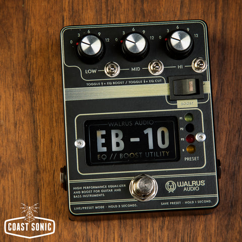 Walrus Audio EB-10 Preamp / EQ / Boost