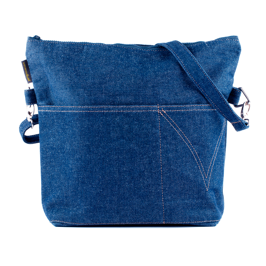 Yarn Pop - Totable Knitting Bag - Forever Denim