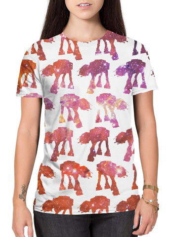 AT-AT Galaxy all-over print black shirt main female