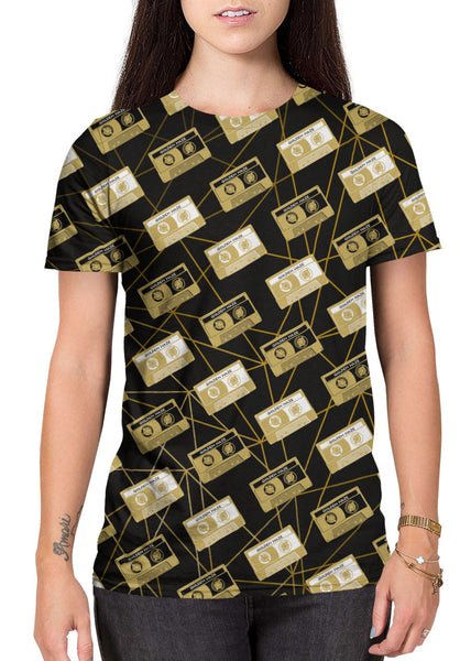 Cassette Party all-over print shirt main female