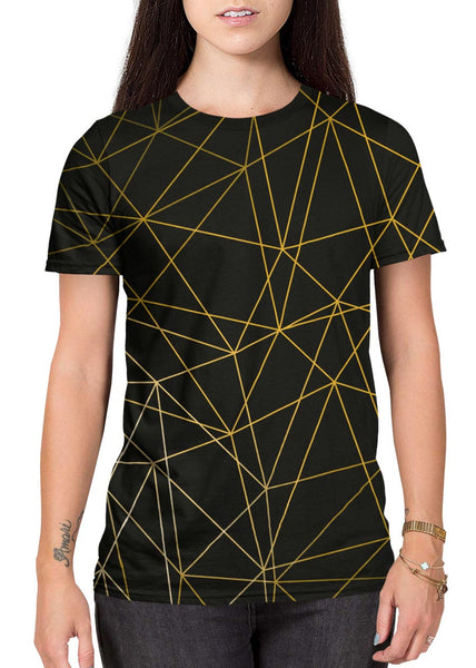 Gold Lines all-over print shirt main female