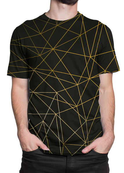 Gold Lines all-over print shirt main