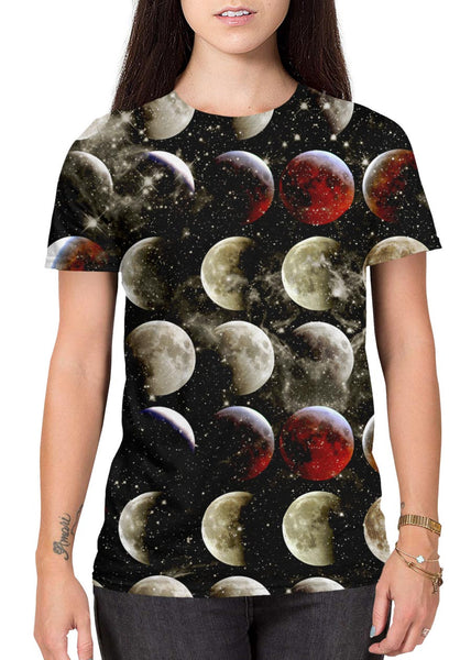 Blood Moon all-over print shirt main female