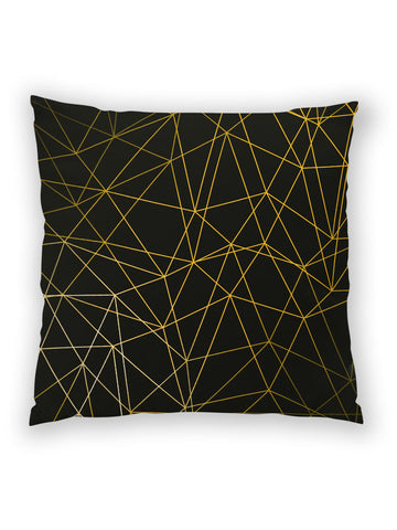 Gold Lines all-over print pillow