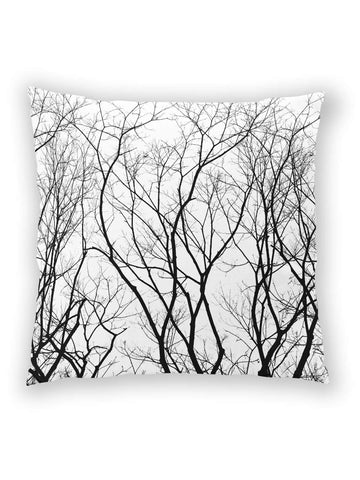 Haunted Forest all-over print white pillow