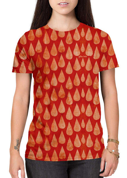 Red Rain all-over print shirt main female