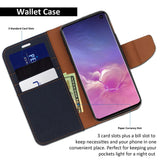 Galaxy S10 Case Pocket Diary Canvas Wallet Cover - ModeBlu