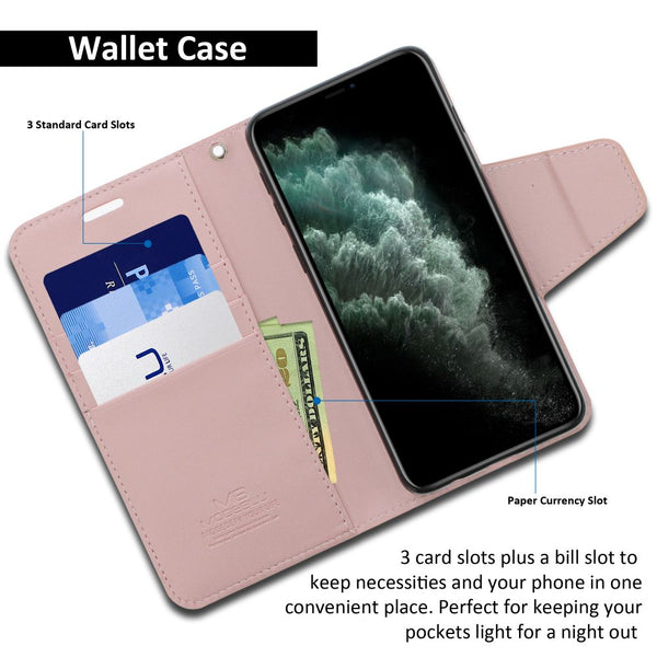 iPhone 11 Pro Max Case Classic Diary Wallet Cover - ModeBlu