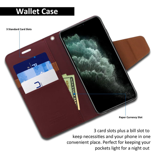 iPhone 11 Pro Case Classic Diary Wallet Cover - ModeBlu