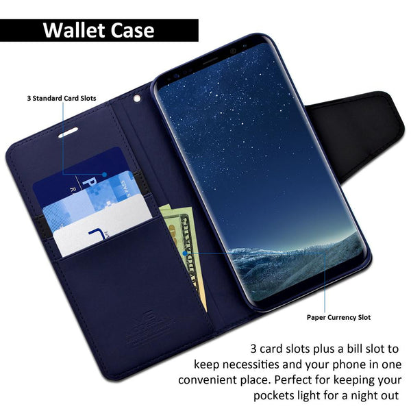 Galaxy S8 Plus Case Classic Diary Wallet Cover - ModeBlu